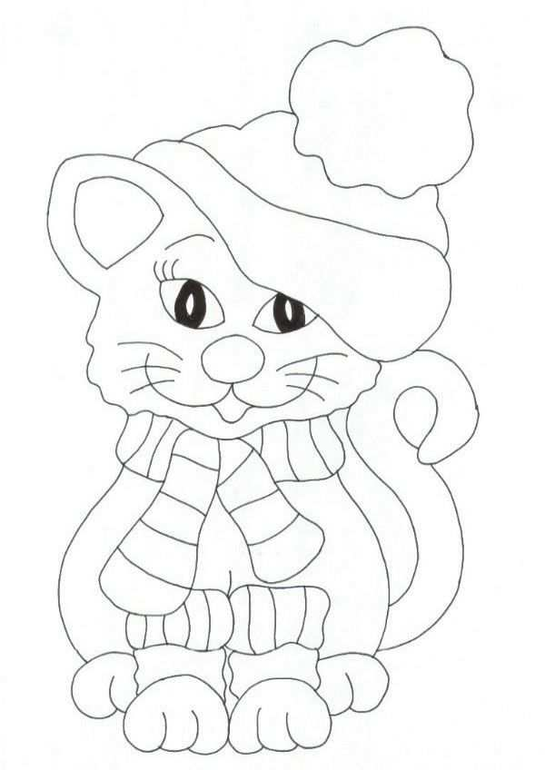 Kleurplaat Poezen En Katten Poezen En Katten Met Afbeeldingen