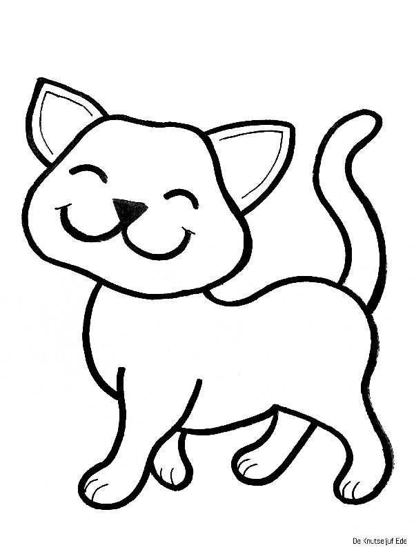 Kleurplaten Katten Katten Tekening Katten Kleurplaten