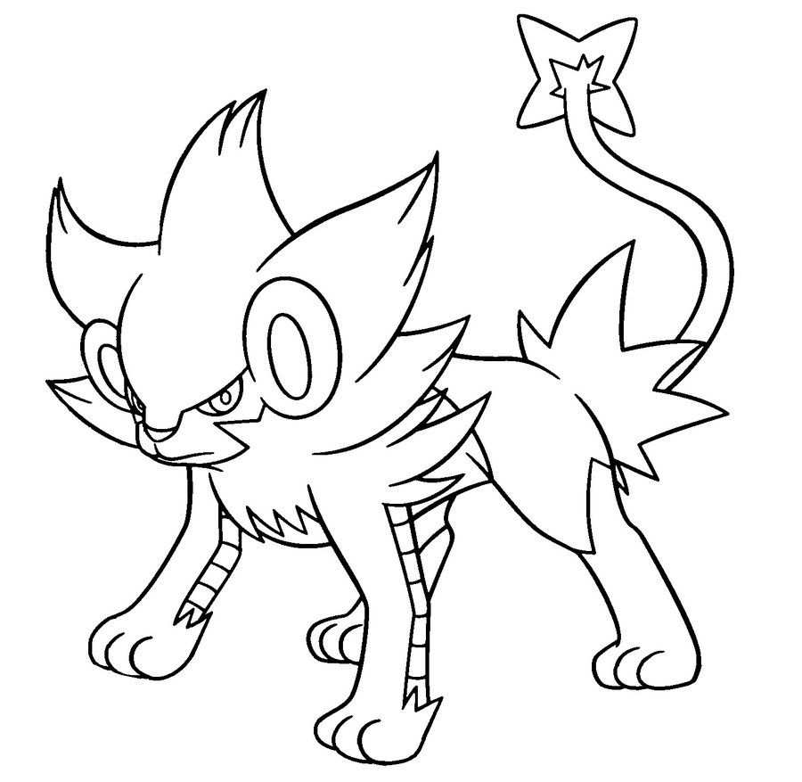 Pokemon Luxray Coloring Pages Pokemon Coloring Pages Cute
