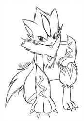 Pin By Bloodborne100 On Zeraora Moon Coloring Pages