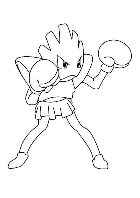 Coloriage Pokemon Tignon Avec Images Coloriage Pokemon Dessin
