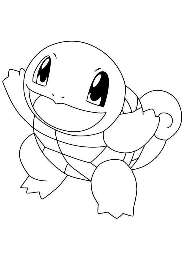Kleurplaat Pokemon Squirtle