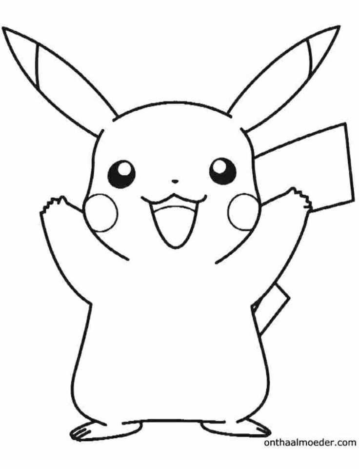 Kleurplaat Pikachu Pokemon Pikachu Coloring Page Pokemon Sketch