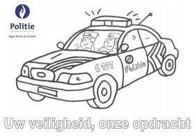 Kleurplaat Politiewagen Politie Kleurplaten Auto
