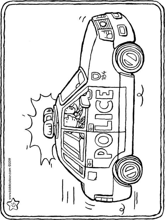 Politieauto Sprookjes Kleurplaten Politie Agenten