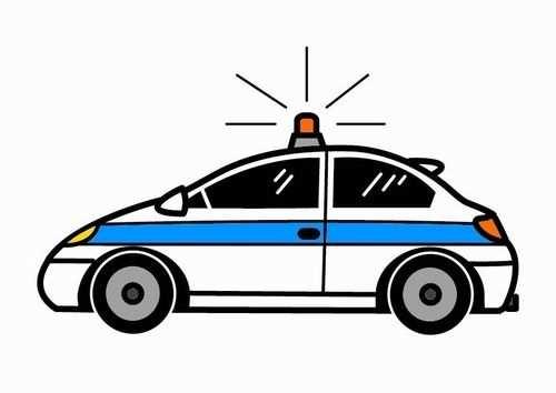 Politieauto Met Afbeeldingen Auto Tekeningen Kleurplaten