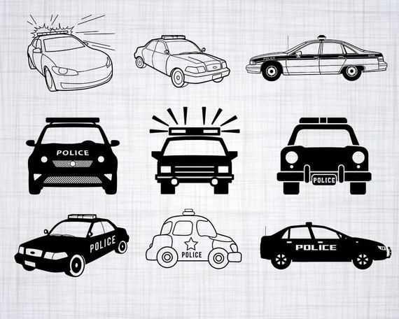 Politie Auto Svg Bundel Politie Auto Svg Politie Auto Clipart