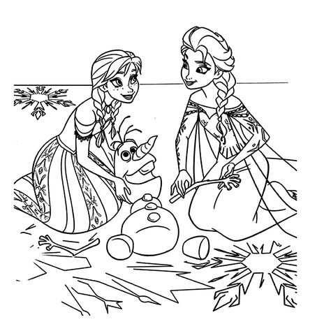 Leuk Voor Kids Kleurplaat Anna Olaf De Sneeuwman En Elsa