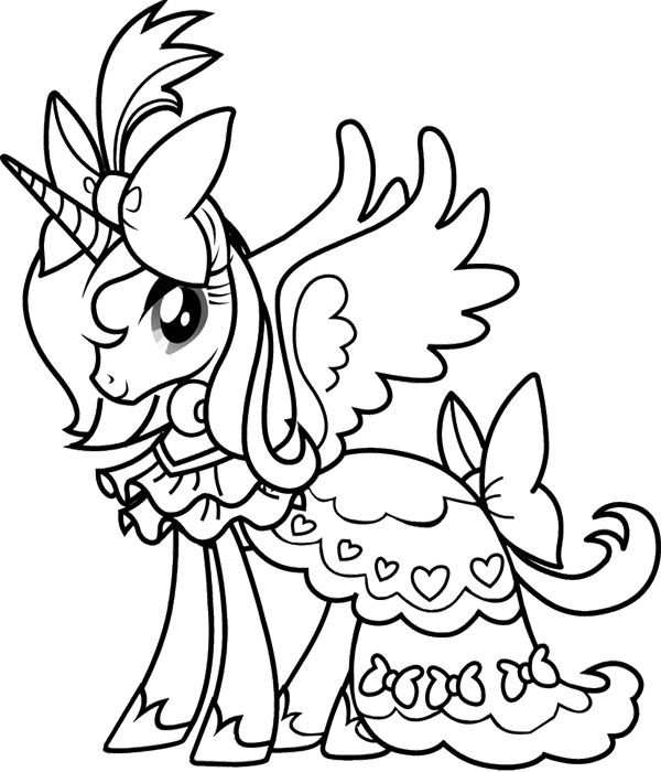 Princess Rarity My Little Pony Coloring Page Farglaggningssidor