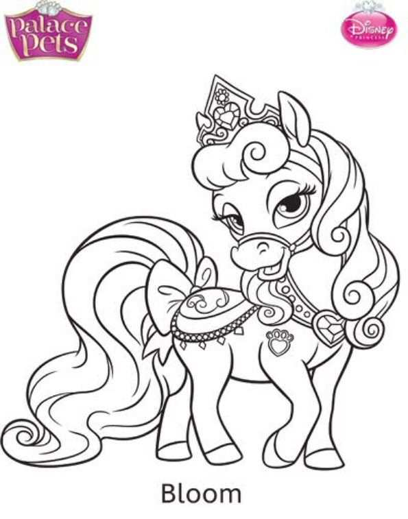 kleurplaat prinses op paard