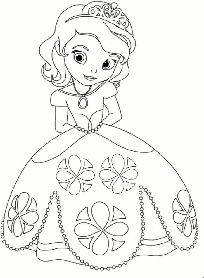 Princess Coloring Page Kleurplaat Prinses In 2020 Disney