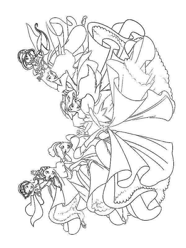 Kleurplaat Disney Prinsessen Alle Disney Prinsessen Disney