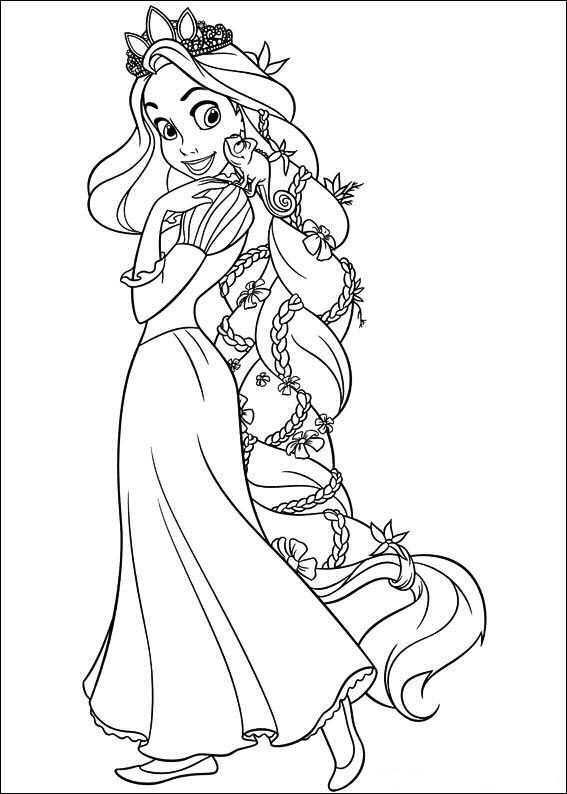 Kleurplaat Prinsessen Rapunzel