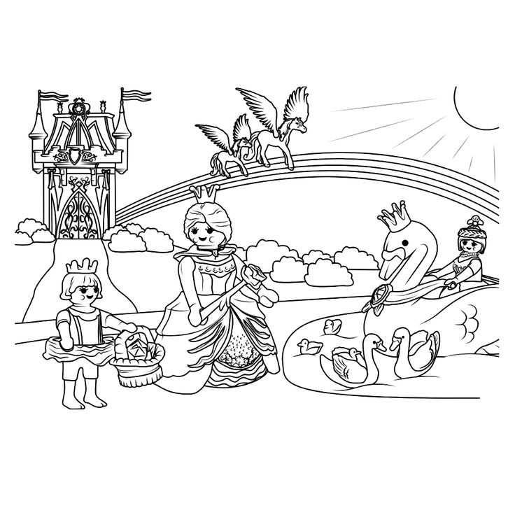 Leuk Voor Kids Kleurplaatplaymobil Prinsessenkasteel Kleurplaten