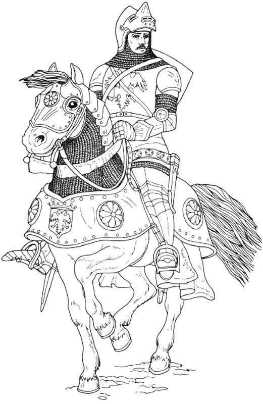 Coloring Page Knights Knights Mit Bildern Ausmalbilder Ritter