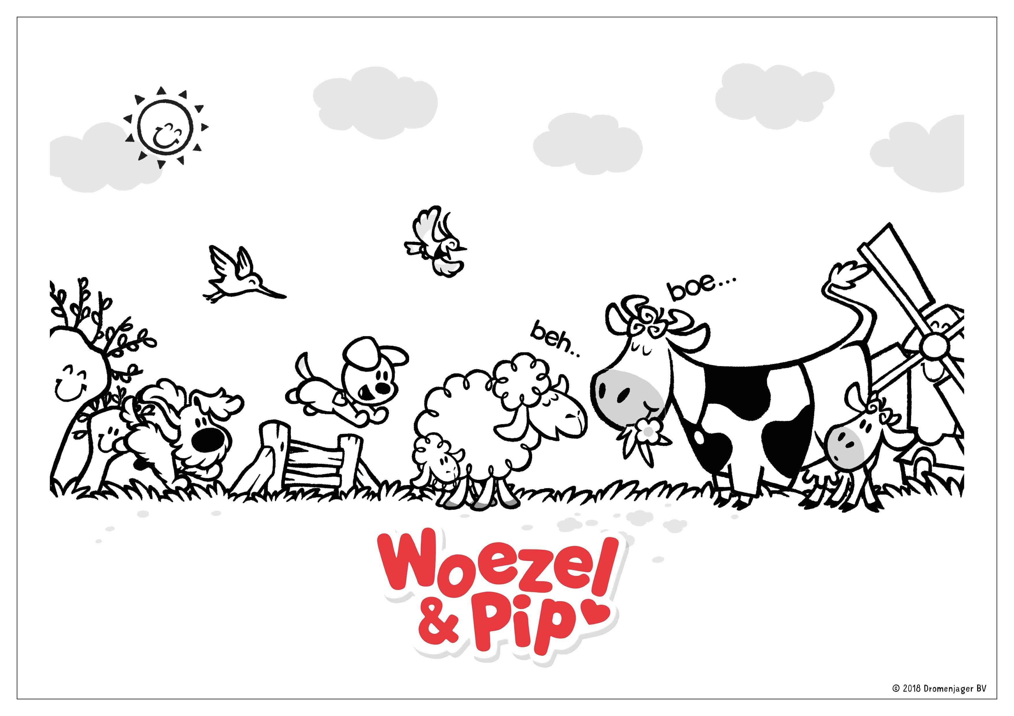 Woezel Pip Kleurplaat Weiland Knutselen Voor Kinderen Voor