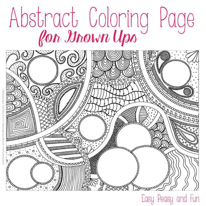 Free Abstract Coloring Page For Adults With Images Abstract
