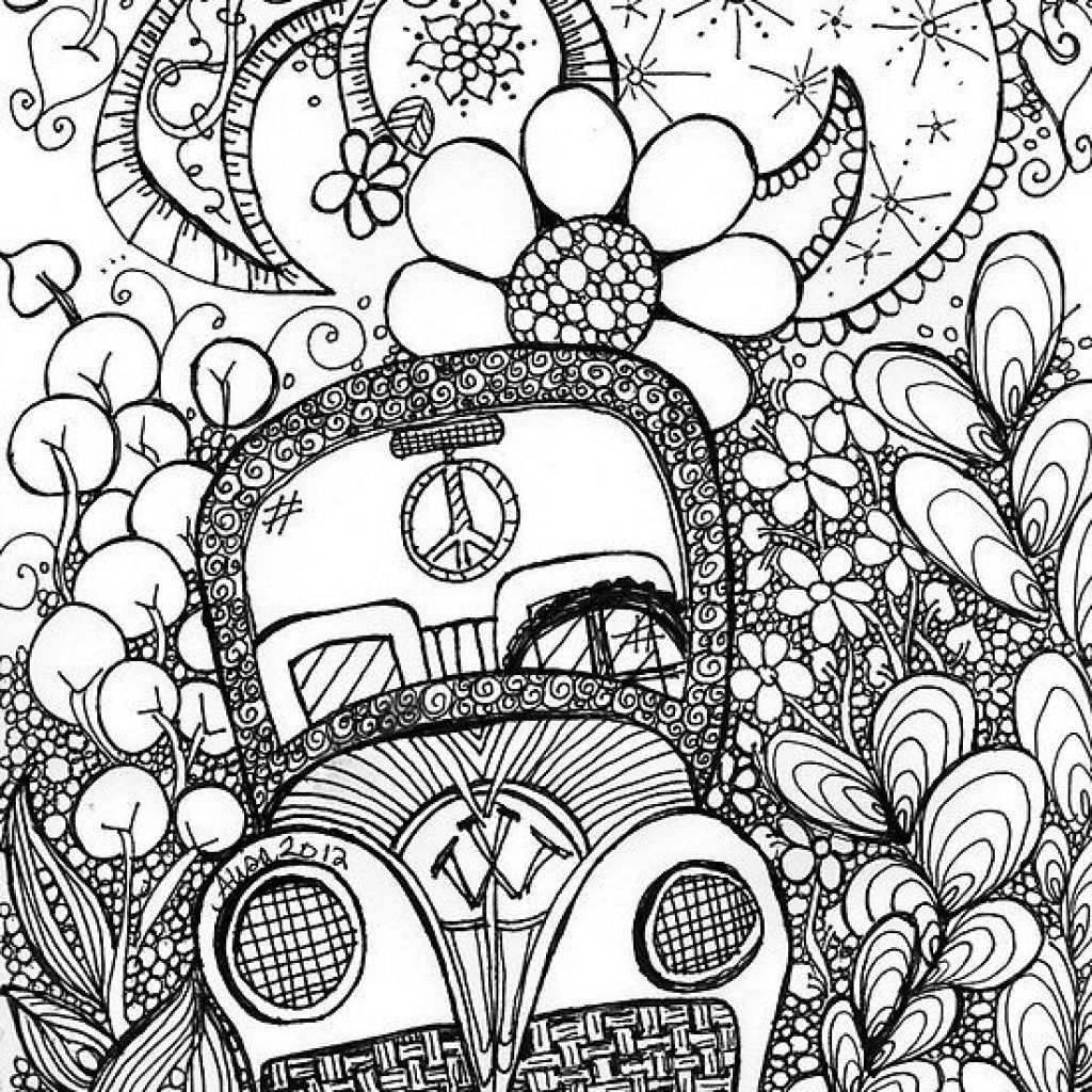 Beautiful Trippy Car Doodle Art Coloring Page Dise Atilde Os