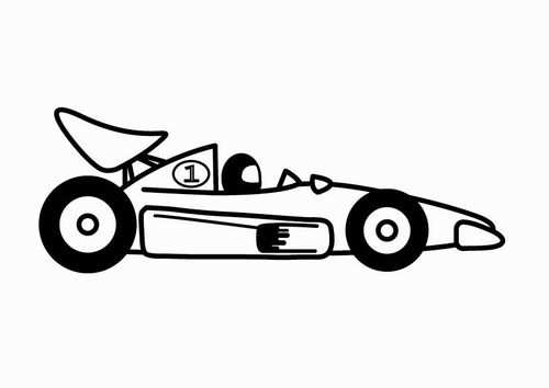 Coloring Page F1 Racing Car Raceauto Kleurplaten Afbeeldingen
