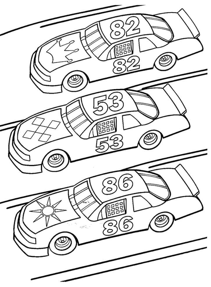 Race Car Coloring Pages And Book Uniquecoloringpages 725 X 984