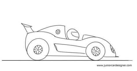 How To Draw A Cartoon Race Car Met Afbeeldingen Raceauto