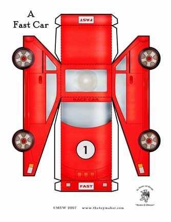 Raceauto Knippen Plooien Plakken Met Afbeeldingen Knutselen