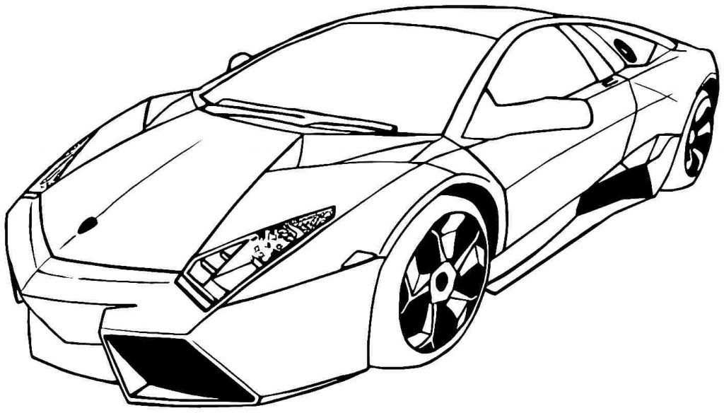 kleurplaat raceauto lamborghini
