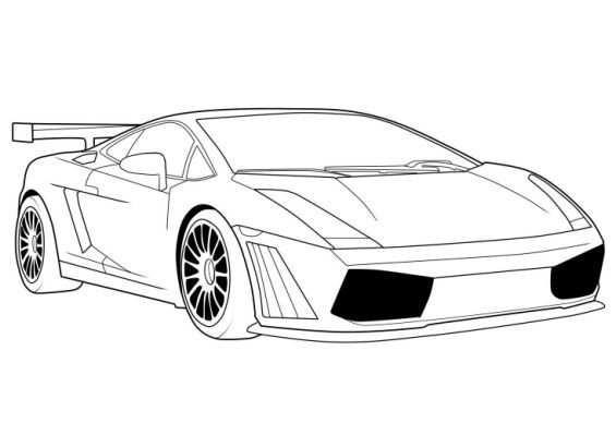 Free Printable Lamborghini Coloring Met Afbeeldingen Auto