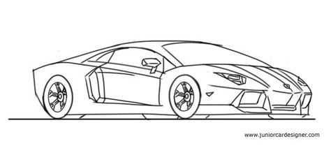 Draw A Lamborghini Aventador Vervoer