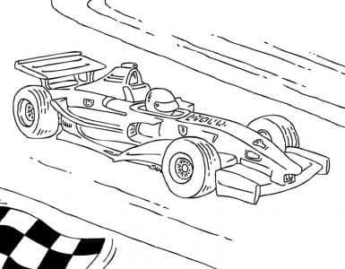 Formule 1 Ferrari Kleurplaat Kleurplaatje Nl