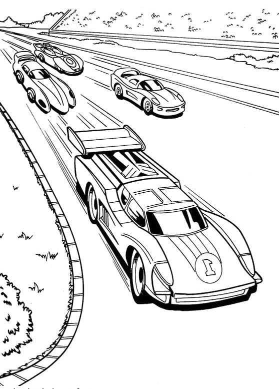 Race Car Racing Hot Wheels Coloring Pages Kleurplaten Raceauto