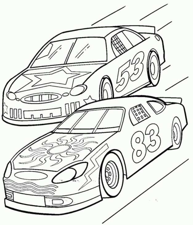 Nascar Coloring Page Online Kleurplaten Raceauto Vervoer