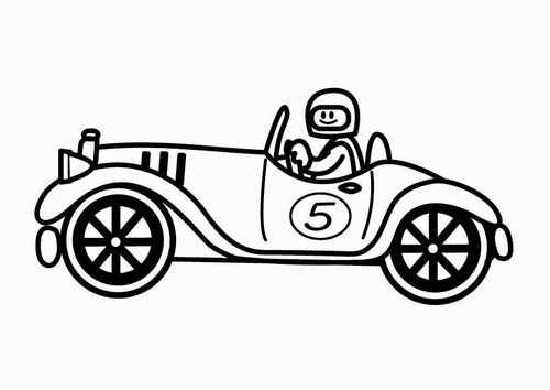 Coloring Page Oldtimer Racing Car Raceauto Kleurplaten Oldtimers