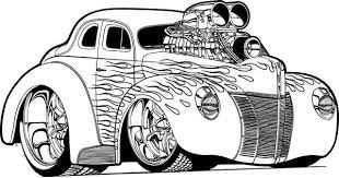 Dibujos De Hot Wheels Para Imprimir Y Colorear Kleurplaten Hot