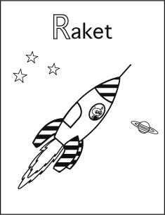 Alfabet Kleurplaat R Van Raket Alfabet Kleurplaten Alfabet