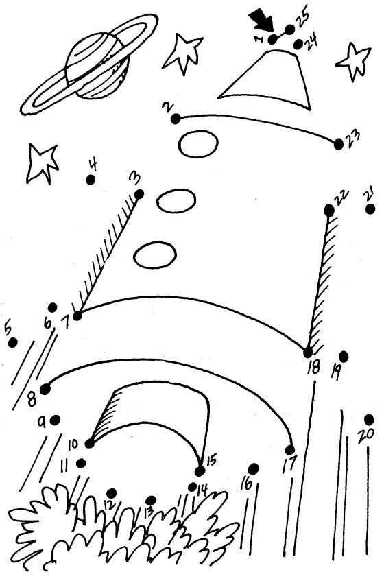 Rocket Dot To Dot Ruimte Thema Werkbladen En Kleurplaten