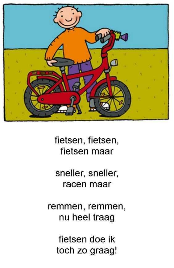 Afbeeldingsresultaat Voor Gedicht Kleuters Fiets Vervoer Thema