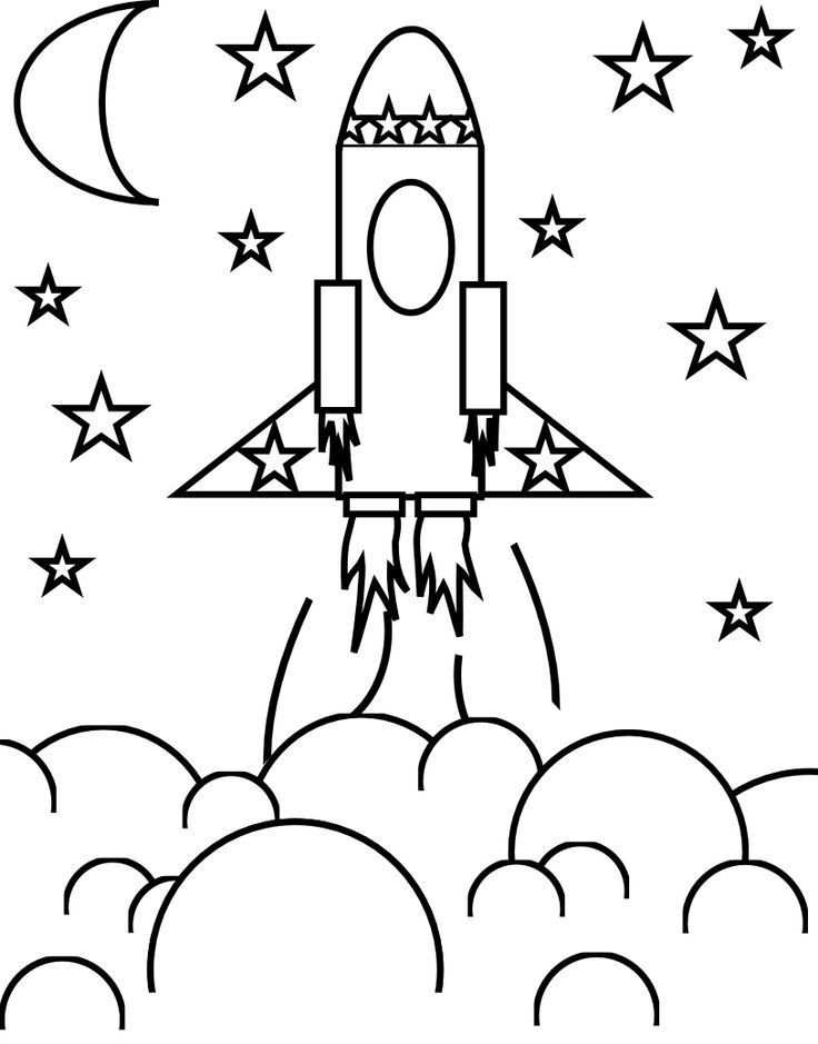 10 Best Spaceship Coloring Pages For Toddlers Kleurplaten