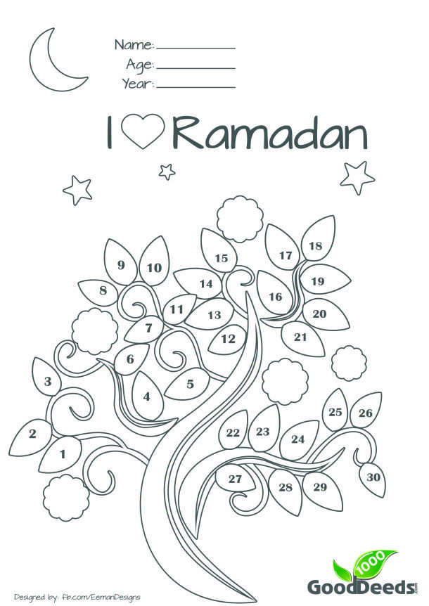Ramadan Fasting Chart For Children Ramadan Activities Ramadan