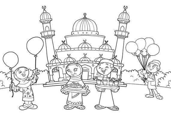 Ramadan Coloring Pages For Kids Mit Bildern Ramadan Fur Kinder