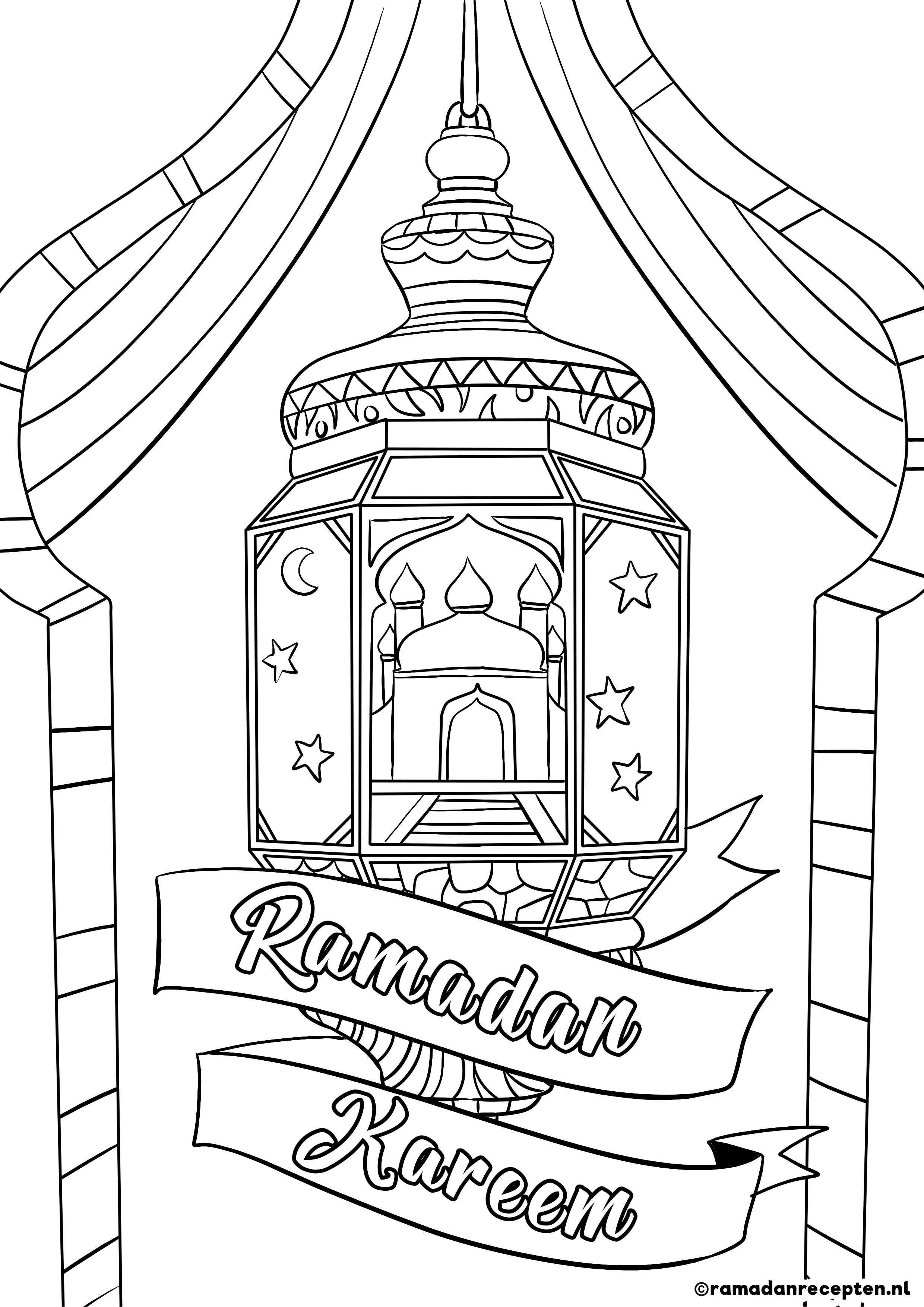 Freebie Ramadan Kleurplaten Voor Kinderen Ramadan Decoraties