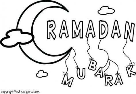 Printable Ramadan Mubarak Coloring Pages For Kids Printable