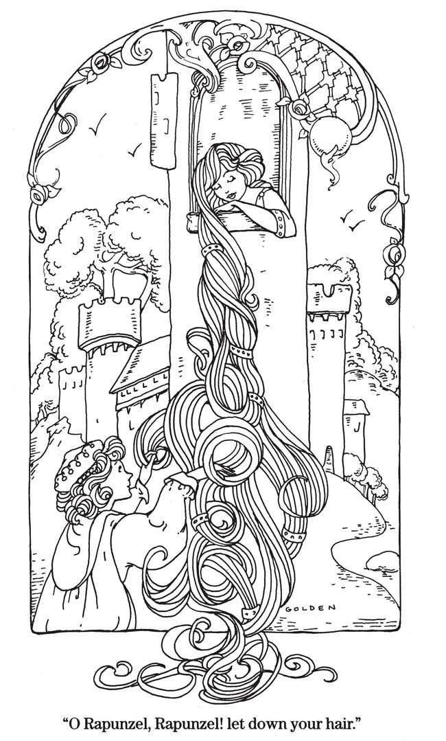 Kleurplaat Rapunzel Kleurplaten Kleurboek Digi Stempels