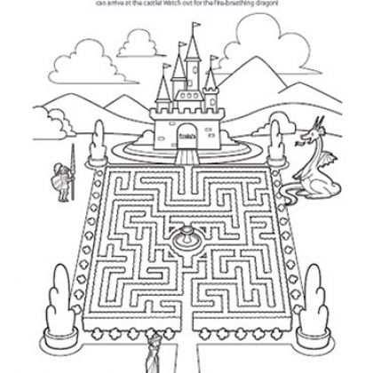 Doolhof Zoek De Weg Naar Het Kasteel Ridders Sprookjes