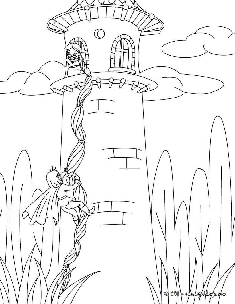 Rapunzel Zum Ausmalen Zum Ausmalen Drawings Kids Castle