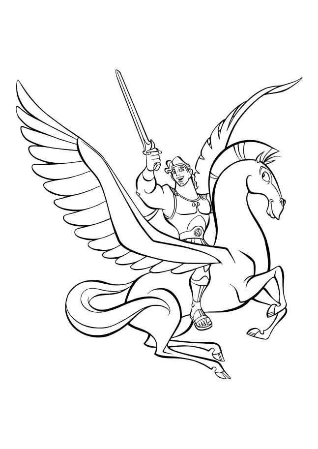 Hercules Coloring Page 45 Kleurplaten Paarden