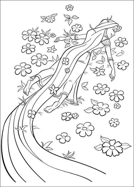 kleurplaat rapunzel pascal