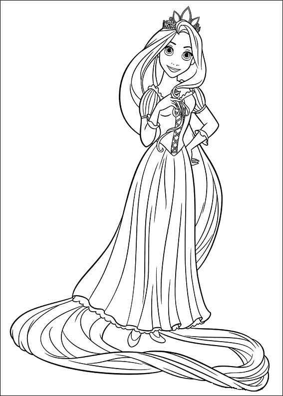 Coloring Page Tangled Kleurplaten Prinses Kleurplaatjes