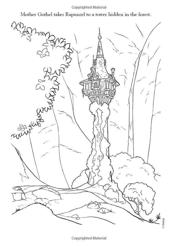 Tangled Tower Coloring Pages Kleurplaten Disney Kleurplaten