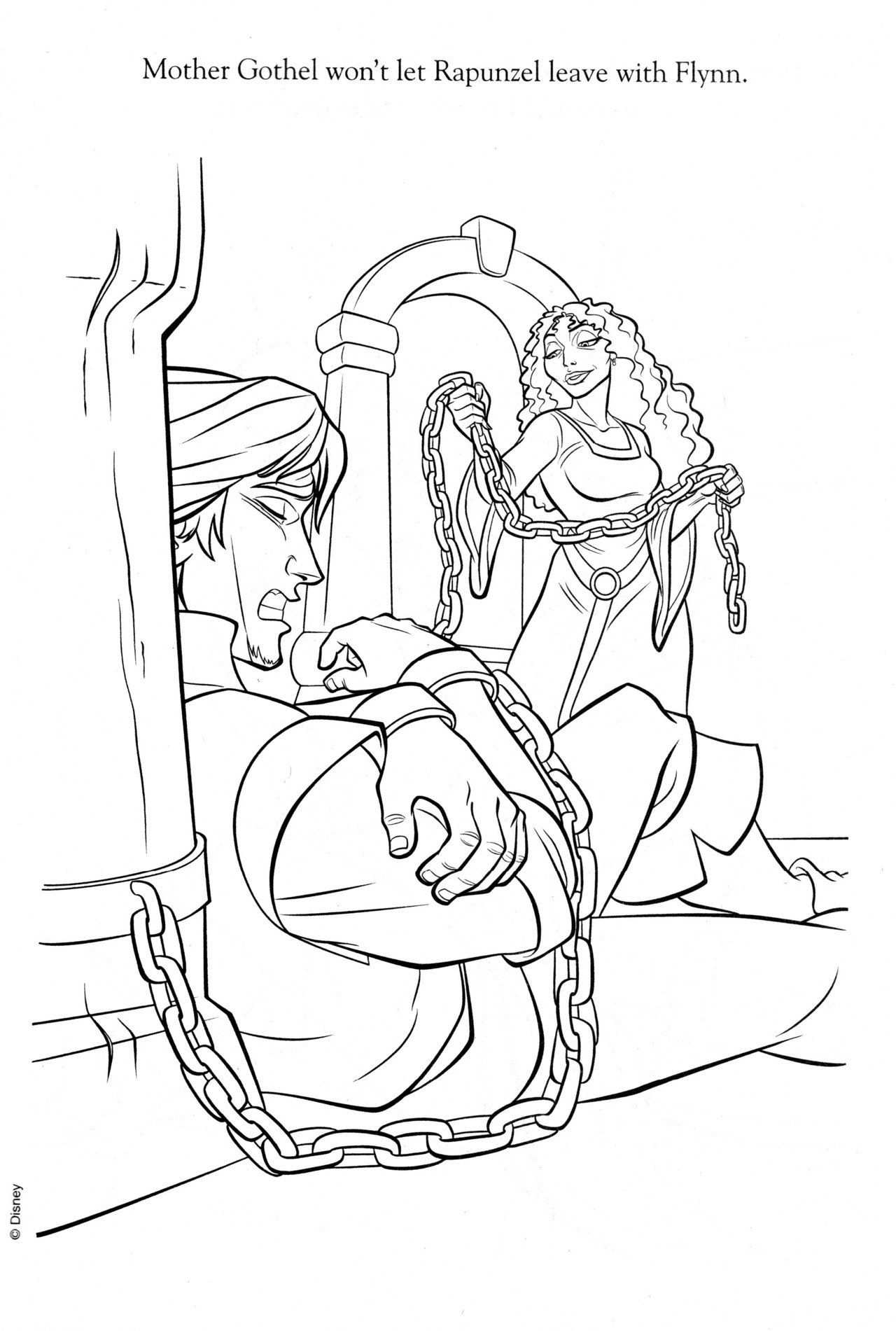 Disney Coloring Pages Disney Coloring Pages Tangled Coloring